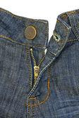 Blue-jeans, pulsante e volare — Foto Stock