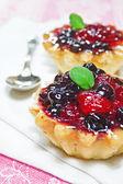 Blackberry fresco e bolo de framboesa — Foto Stock