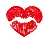 Beijando os lábios de forma de coração — Foto Stock