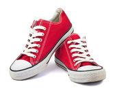 Vintage červené boty — Stock fotografie