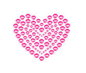 Heart shape kissing lips — Stockfoto