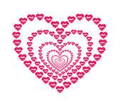 Heart shape kissing lips — Stock Photo