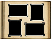 Strony archiwalne zdjęcie album, ramki na zdjęcia — Zdjęcie stockowe