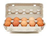 Eggs in the box — Stock Photo