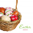 Easter eggs in the basket — Stock Photo #9576555