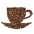 Coffee cup made of beans — Stock Photo #9694627