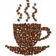 Coffee cup made of beans — Foto Stock