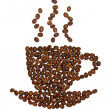 Coffee cup made of beans — Zdjęcie stockowe