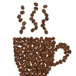 Coffee cup made of beans — Stock Photo #9694634