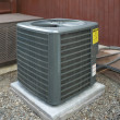 Stock Photo: Heat pump and ac unit