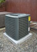 Bomba de calor e a unidade de ar condicionado — Foto Stock