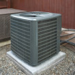 Heat pump and ac unit - Stock Photo