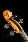 Cello scroll and adjustment keys — Foto Stock
