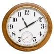 Wood wall clock, isolated — Stock Photo #7971161