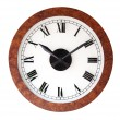 Wood wall clock, isolated — Stock Photo #7971197