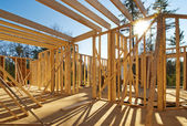 Framing of a new house — Stock Photo