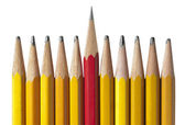 Sharpest Pencil in the Bunch, isolated — Stock Photo