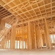 New house inside construction - Stock Photo
