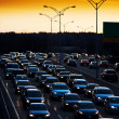 Stock Photo: Evening commute traffic