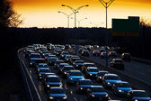 Evening commute traffic — Stock Photo