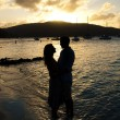 Stock Photo: Couple at sunset