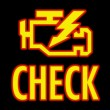 Royalty-Free Stock Photo: Check engine light