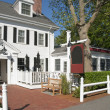 Colonial country inn entrance — Stock Photo #9774373