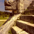 Chichen Itza, snake head — Stock Photo #9992478