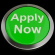 Stock Photo: Apply Now Button In Green For Work Application