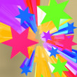Abstract Bursting Stars Background As Colorful Dramatic Backdrop — Stock Photo