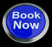 Blue Book Now Button For Hotel Or Flight Reservation — Stock Photo