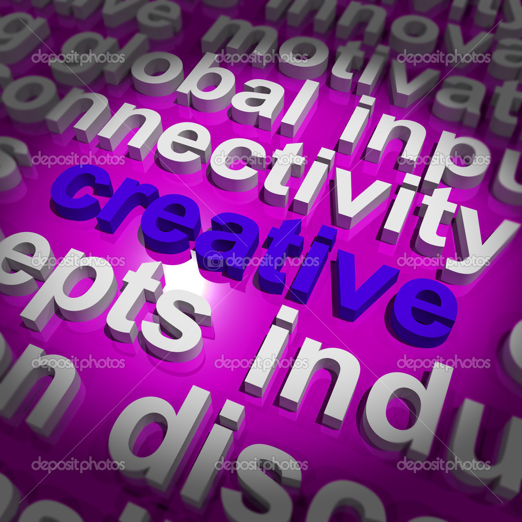 Creative Word Representing Innovative Ideas Or Imagination — Stock Photo #10438830