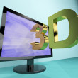 Stock Photo: Three Dimension Television Or 3D HD TVs