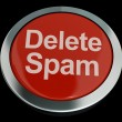 Delete Spam Button For Removing Unwanted Email — Stock Photo