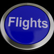 Stock Photo: Flights Button In Blue For Overseas Vacation Or Holiday