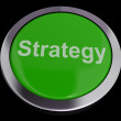 Strategy Button For Business Solutions Or Goals — Stock Photo