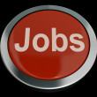 Jobs Computer Button In Red Showing Work And Careers — Stock Photo