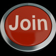 Stock Photo: Join Button In Red Showing Subscription And Registration