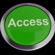 Access Button In Green Showing Permission And Security — Stock Photo