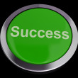 Stock Photo: Success Button In Green Showing Achievement And Determination