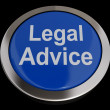 Legal Advice Button In Blue Showing Attorney Guidance — Stock Photo #10446717