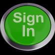 Stock Photo: Sign In Button Green Showing Website Login