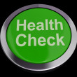 Health Check Button In Green Showing Medical Examination — Photo #10446741