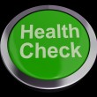 Health Check Button In Green Showing Medical Examination — Stock Photo