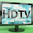 HDTV Monitor Representing High Definition Television Or TV — Stock Photo