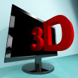 Stock Photo: Three Dimensional Television Or 3D HD TV