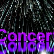 Stock Photo: Concert Word On Stage With Firework Display