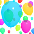 Stock Photo: Multicolored Balloons Background For Birthday Or Anniversary