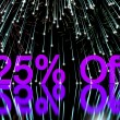 Stock Photo: Fireworks Showing Sale Discount Of Twenty Five Perc