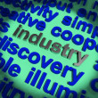 Industry Word Showing Production And Industrial Factories — Stock Photo #10447297